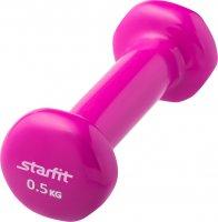 Гантель виниловая STARFIT DB-101 0,5 кг (Розовая)