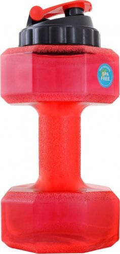 Бутылка-гантеля для воды SN6010 (Красный, 2200 мл)