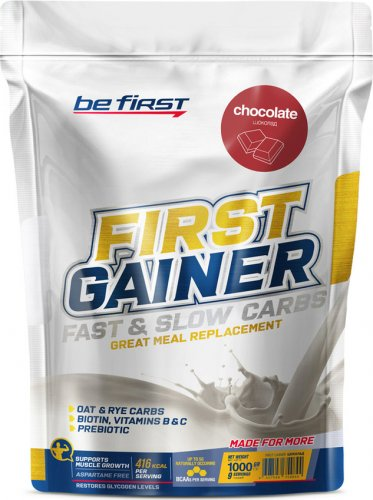 First Gainer Fast & Slow Carbs (Шоколад, 1000 гр)