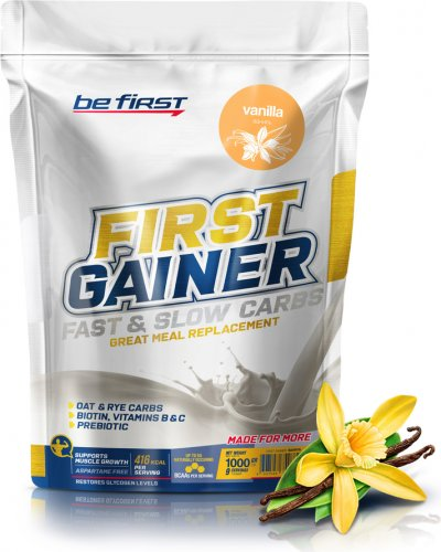 First Gainer Fast & Slow Carbs (Ваниль, 1000 гр)