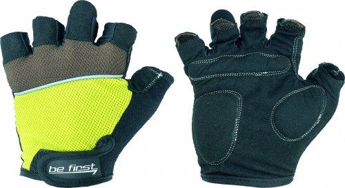Перчатки Be First 308 (Черно-зеленый, XL)