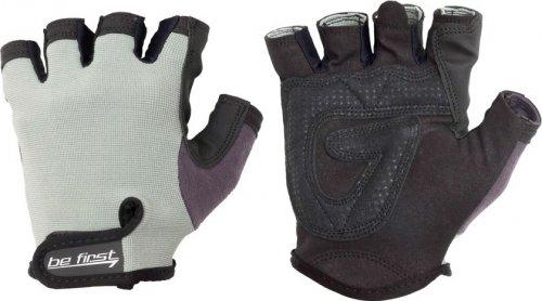 Перчатки без фиксатора (Черно-серый, XL)