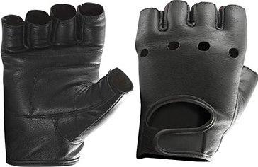 Перчатки кожаные Be First (Черный, L)
