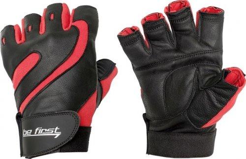 Перчатки с фиксатором (Черно-красный, L)