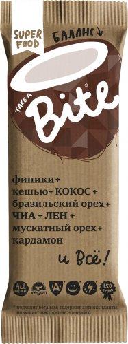 Батончик Bite Баланс (Кокос-бразильский орех, 45 гр)