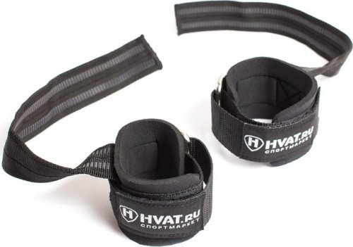 Кистевые ремни прорезиненные HVAT (Черный)
