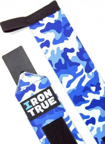 Бинт кистевой Irontrue WS100-50 (Синий камуфляж)