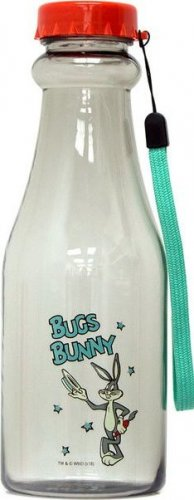 Бутылка Irontrue Looney Tunes Bugs Bunny (Прозрачно-красный, 550 мл)