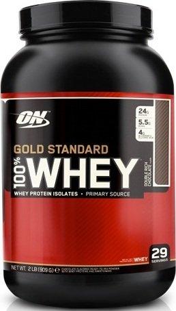 100% Whey Protein Gold standard (Двойной шоколад, 909 гр)