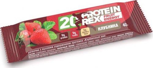 20 Protein Rex Fruit Energy (Клубничный пай, 40 гр)
