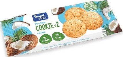 Протеиновое печенье с пониженной калорийностью Royal Cake Protein Cookie (Кокос, 50 гр)