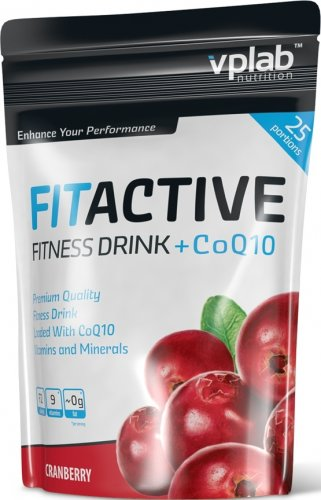 FitActive Fitness Drink+CoQ10 (Клюква, 500 гр)