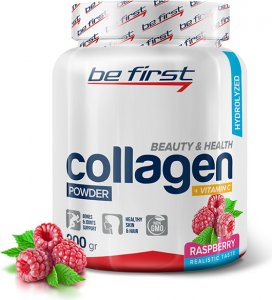 Collagen + vitamin C powder (Малина, 200 гр)