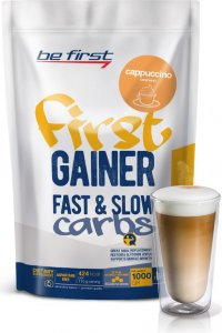 Гейнер First Gainer Fast & Slow Carbs (Капучино, 1000 гр)