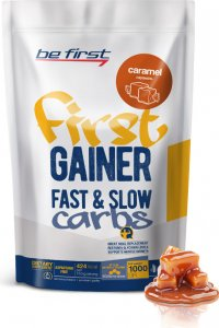 Гейнер First Gainer Fast & Slow Carbs (Карамель, 1000 гр)