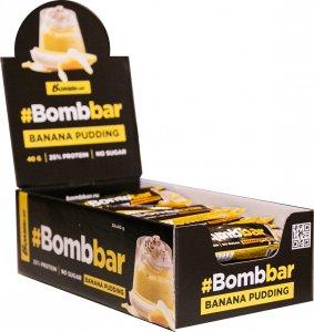 Батончик глазированный с начинкой BOMBBAR (Банановый пудинг, 40 гр)