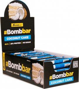 Батончик глазированный с начинкой BOMBBAR (Кокосовый торт, 40 гр)