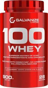 Протеин 100 Whey (Клубника-белый шоколад, 900 гр)