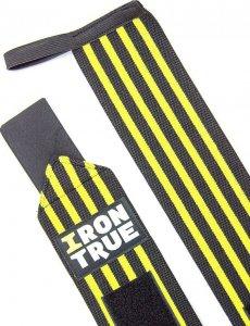 Бинт кистевой Irontrue WS100-50 (Черно-желтый)
