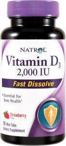 Vitamin D3 2000ui Fast Dissolve (Клубника, 90 таб)