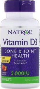 Vitamin D3 5000ui Fast Dissolve (Клубника, 90 таб)