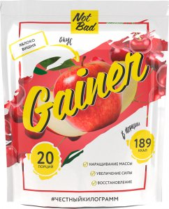 Гейнер NotBad Gainer (Яблоко-вишня, 1000 гр)