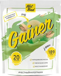 Гейнер NotBad Gainer (Фисташковое мороженое, 1000 гр)