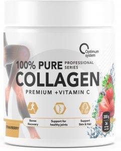 100% Pure Collagen Powder (Клубника, 200 гр)