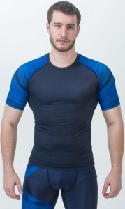 Рашгард с коротким рукавом ORSO Bandage (Синий, XL)