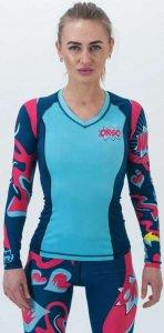Рашгард женский с длинным рукавом ORSO Bubl Gum (Разноцветный, S)