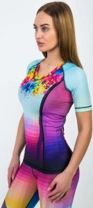 Рашгард женский с коротким рукавом ORSO Classic Pixel (Разноцветный, M)