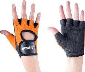 Перчатки атлетические Starfit SU-107 (Оранжево-черный, S)