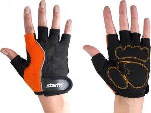 Перчатки атлетические Starfit SU-108 (Оранжево-черный, M)